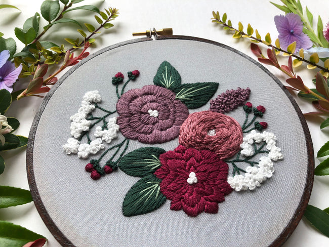 Hand Embroidery Kit for Beginners - Charlotte