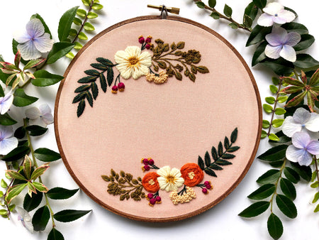 Hand Embroidery Kit for Beginners - Madelyn (light pink)