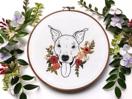 Hand Embroidery Kit for Beginners - Maisie Mae (salmon pink)