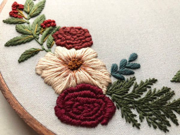 Hand Embroidery Kit - Floral Wreath