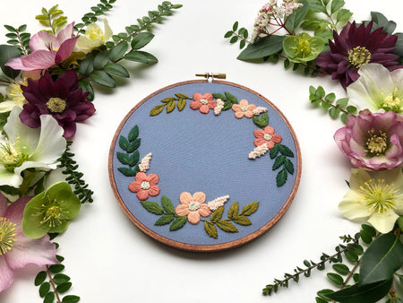 Hand Embroidery Kit for Beginners - Maisie Mae (blue)
