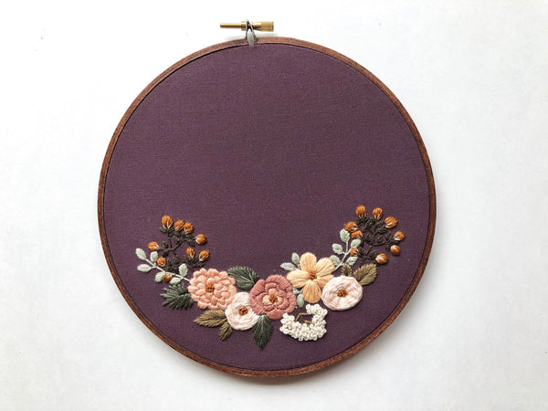 Hand Embroidery Kit for Beginners - Heather (purple)