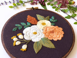 Hand Embroidery Kit for Beginners - Hannah Rose (purple)
