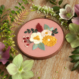 Hand Embroidery Kit for Beginners - Hannah Rose (peach)