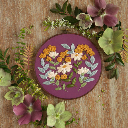 Hand Embroidery Kit for Beginners - Charlotte (purple)