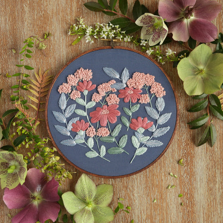 Hand Embroidery Kit - Floral Bouquet
