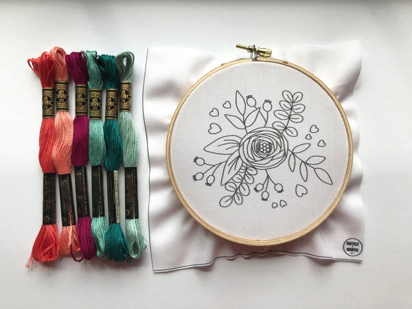 Hand Embroidery Kit for Beginners - Valentine