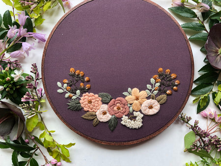 Hand Embroidery Kit for Beginners - Maisie Mae (purple)