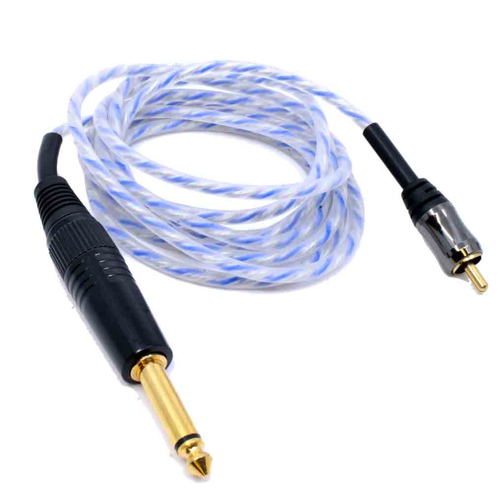 Tattoo Machine RCA Cord Blue Premium Cable