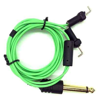 Element Tattoo Supply Power Supply Tattoo Clip Cord Slim Green