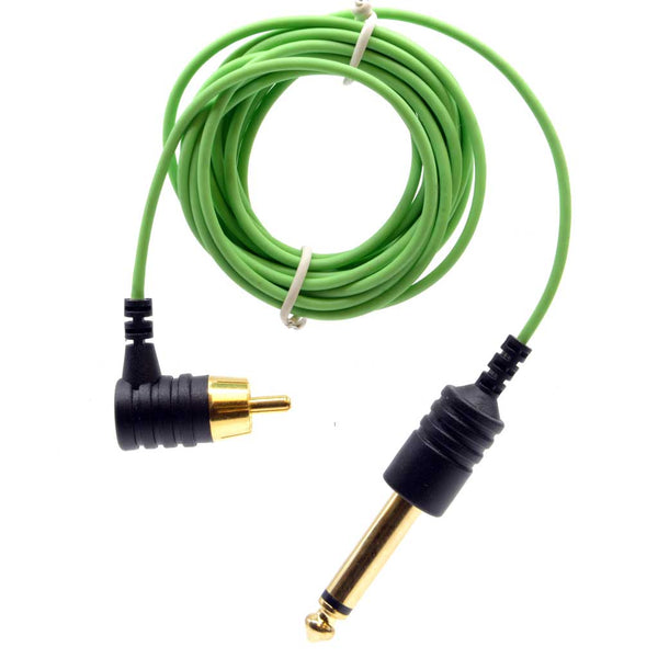 Element Tattoo Supply Power Supply Tattoo RCA Cord Slim Green