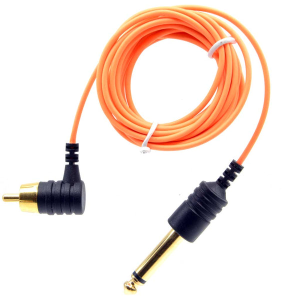 Element Tattoo Supply Power Supply Tattoo RCA Cord Slim Orange