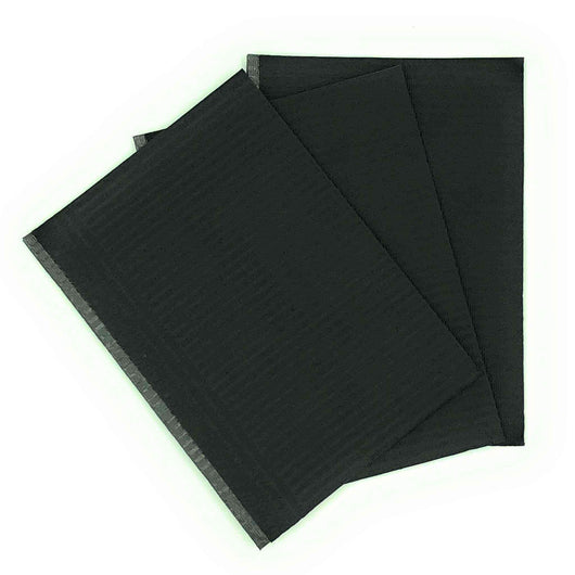 UG Health Care Medical Supply 50 Pack Black Medical Tattoo Bibs 13 x 8