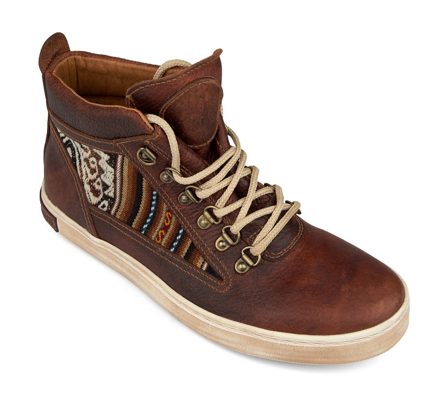 Women's Brown Leather Camping Boot