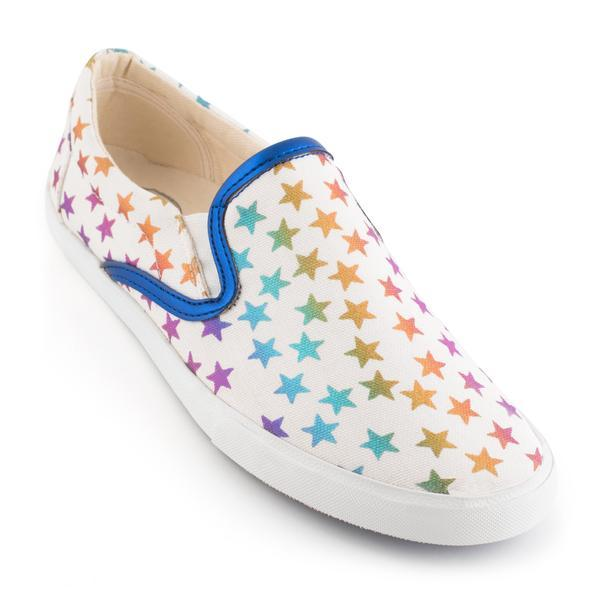 Women's Rainbow Stars Slip On