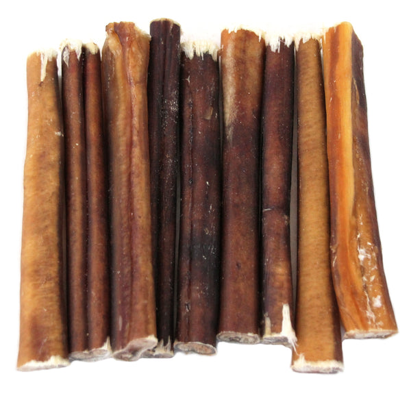 "6"" Thick Bully Sticks - Naturally Scented from $1.75/piece"