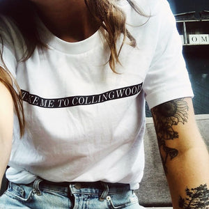 Take Me To Collingwood Short Sleeved T-shirt White