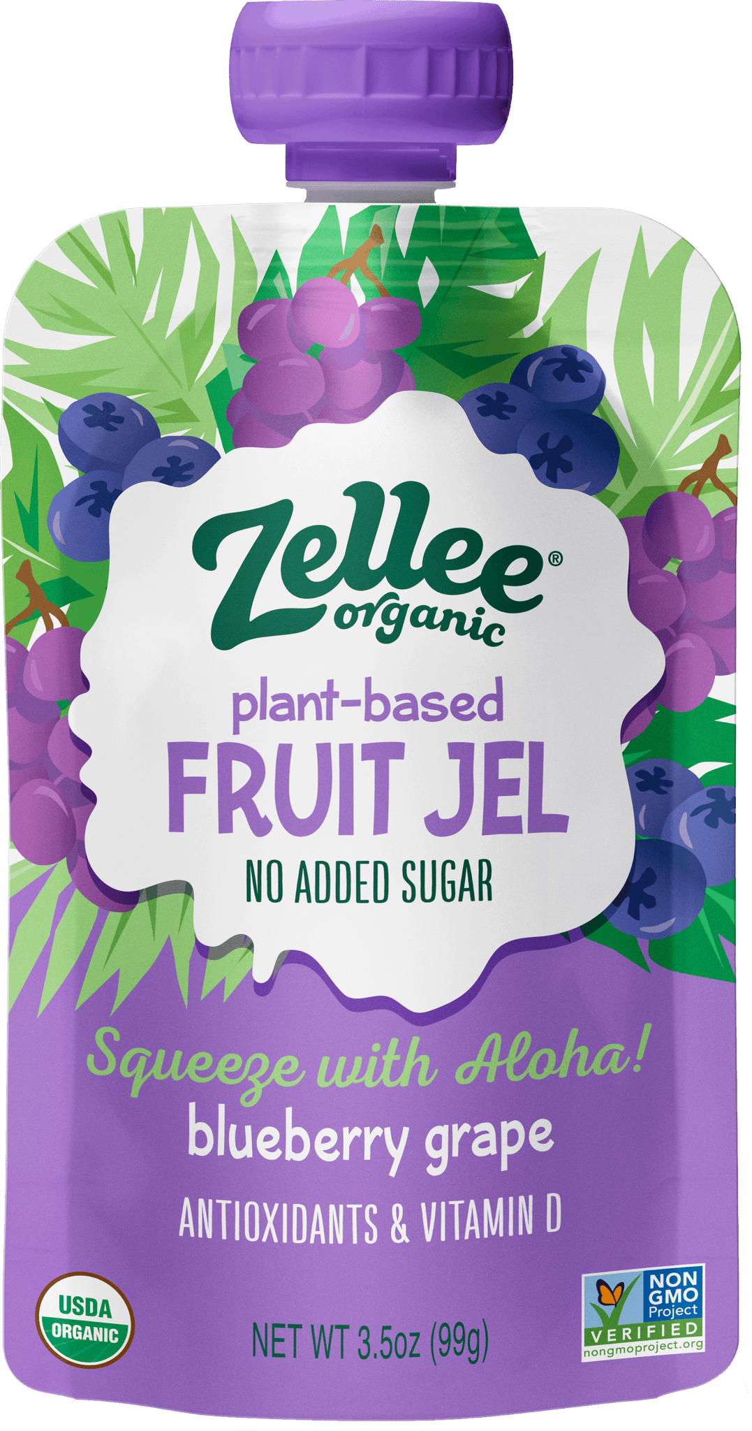 Zellee Organic Blueberry Grape Fruit Jel
