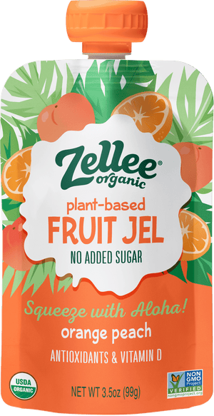 Zellee Organic Orange Peach Fruit Jel
