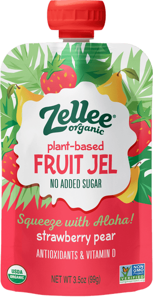 Zellee Organic Strawberry Pear Fruit Jel