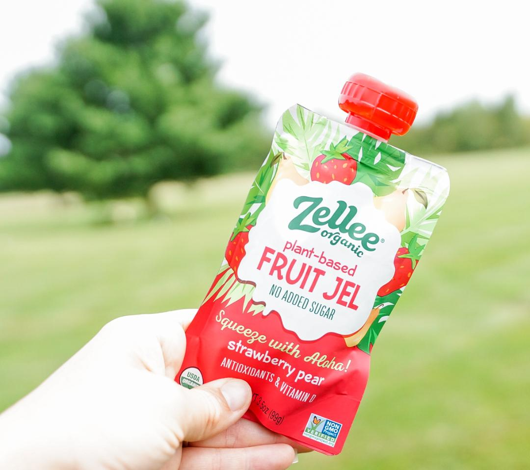 Zellee Organic Fruit Jel, Strawberry Pear - 12 pack