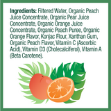 Zellee Organic Fruit Jel, Orange Peach - 12 pack