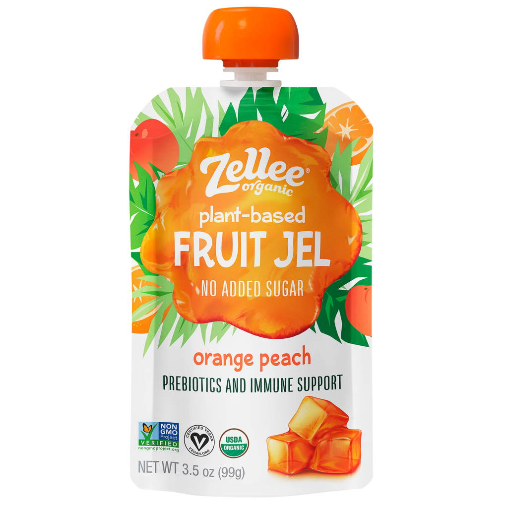 Zellee Organic Plant Based Fruit Jel Orange Peach Flavor