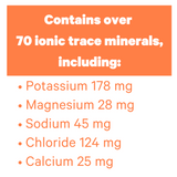 Zellee Sports Jel contains over 70 ionic trace minerals including Potassium, Magnesium, Sodium, Chloride, Calcium