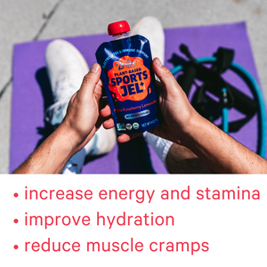 Zellee Organic Sports Jels reduce muscle cramps and increases energy and stamina with electrolytes