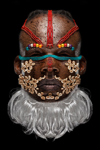 Teddy Mitchener, 'Disappearing Africa Bwoom Mask', 2020