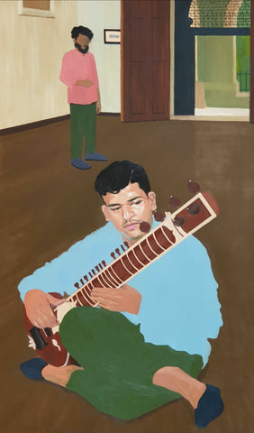 Omkar Mankame, 'Musing with Sitar', 2018