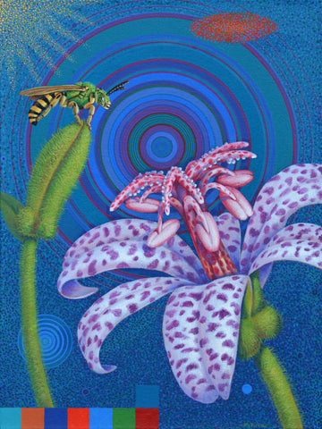Scott McIntire, 'Toad Lily and Green Metalic Bee', 2013
