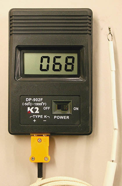 Pyrometer - Digital Pyrometer for Monitoring Interior Kiln Temperature