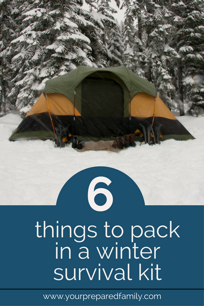 what we sometimes forget is that a winter survival foot kit should contain very specific items and when you consider the importance of the amount of substance and calorie intake in this food. These are the 6 items your should pack in your DIY winter survival kit. #yourpreparedfamily #survivalkit #emergencyprepardness