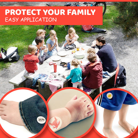 Mosquito Repellent Stickers with Natural Citronella Oil