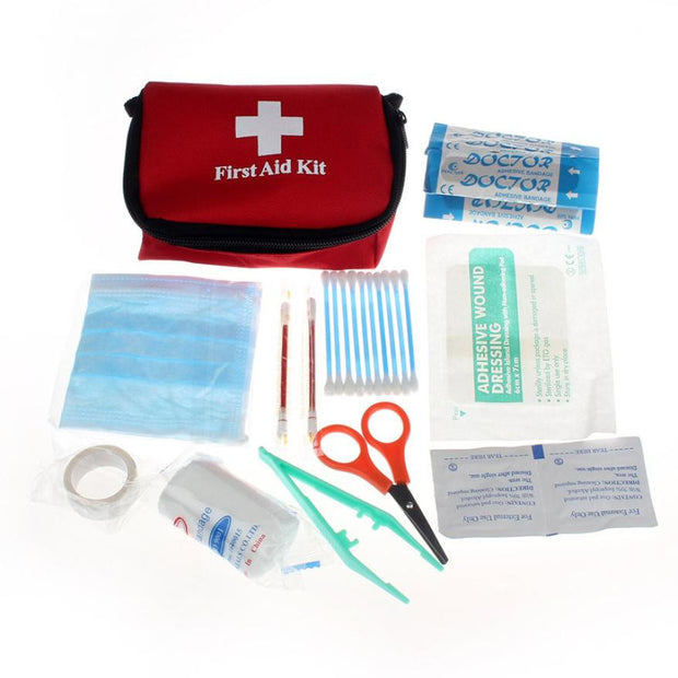 Emergency Survival First Aid Kit - Mini Emergency Bag for Car, Home, Picnic, Camping, Travelling and Other Outdoor Situations