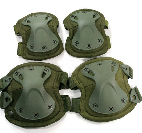 Green Tactical Military Outdoor Sport Knee & Elbow Protective Pads