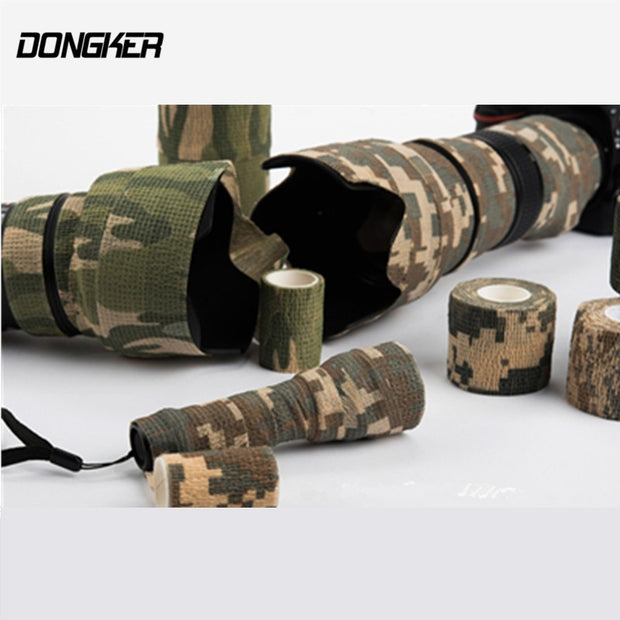 Airsoft Elastic Stealth Tape Military Waterproof Camo Tapes - For Camera Paintball Shooting Hunting Gun  - Stretch Bandage