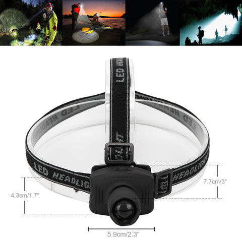Headlamp - LED Headlight - Adjustable Headband - Best for Camping, Running, Hiking, Hunting