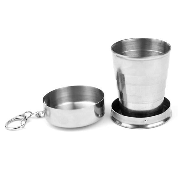 Stainless Steel Portable Outdoor Travel Camping Folding Collapsible Cup