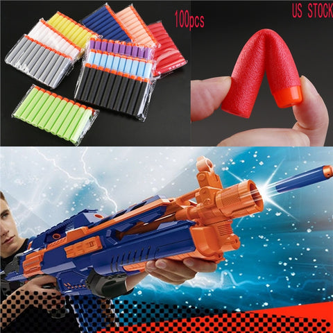 100pcs Refill EVA Foam Darts for Nerf N-strike Elite Series