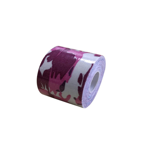 Printed Kinesiology Tape - Camo - 5cmx5m - Elastic Water Repellent Athletic Tape - Sports Volleyball Sports Safety
