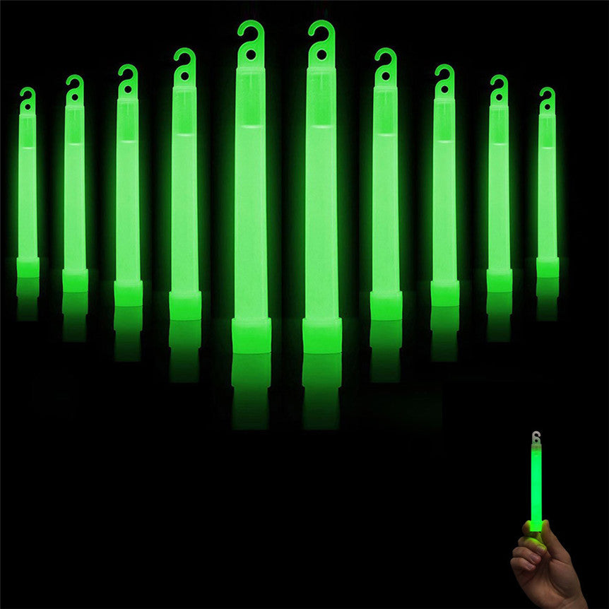 Bright Green Glow Sticks - 10 Pack