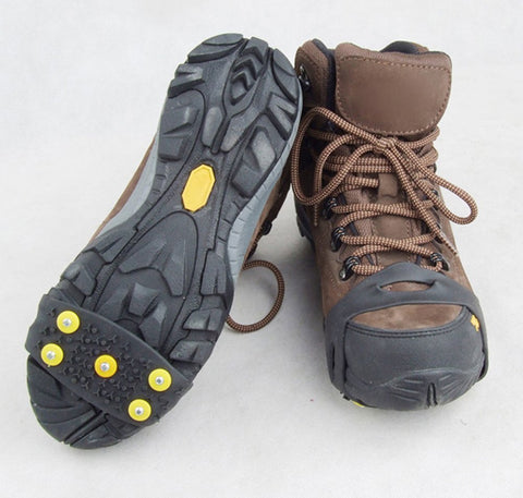 Anti Slip Crampon Cleats (5 Studs) Shoe Covers - For Snow, Ice, Travel, and Winter Emergencies