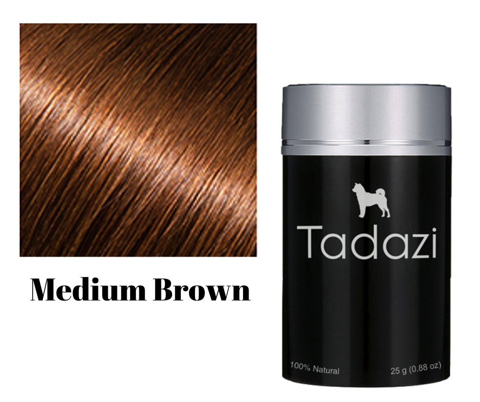 Tadazi Hair Fibers - Med Brown