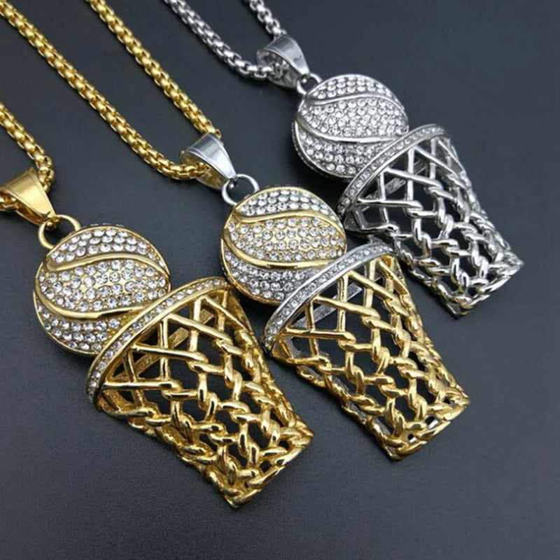 0157 bling rhinestone men basketball pendants women stainless steel bling rhinestone men basketball pendants women stainless steel necklace mozeypictures Images