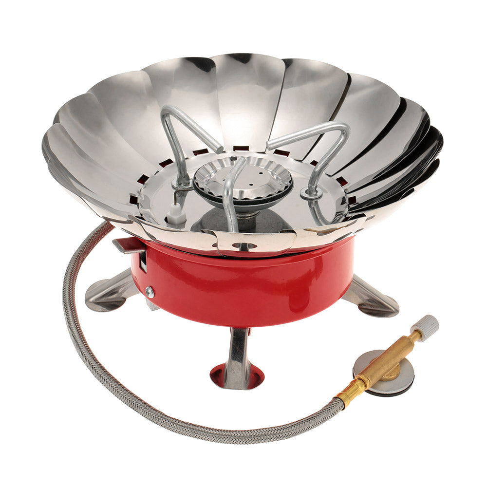 Outdoor Portable Gas Stove Camping Equipment Retracted Windproof Picnic Cooking