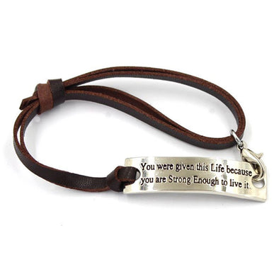 Strong Enough Motivation Bracelet
