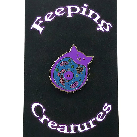 Feeping Creature Kitty Enamel Pin by Dylan Edwards