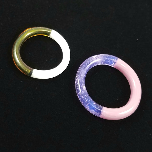 Bi-Color Rings | - Glass Rings by Marni